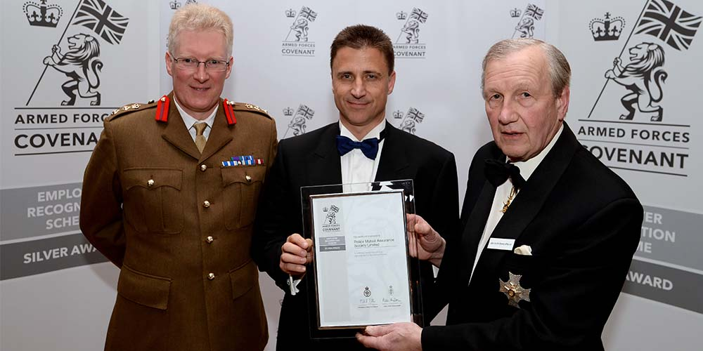 Forces Financial gains MoD Employer Recognition Scheme Silver award