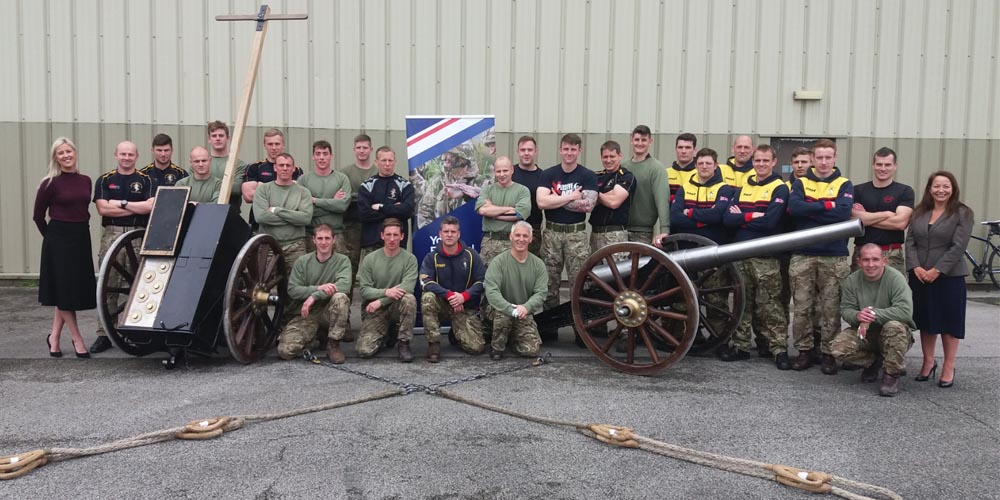 Strength and team work on show in this weekend's Royal Navy Field Gun Competition