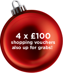 4 x £100 shopping vouchers up for grabs